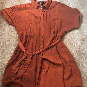 Rust color dress !